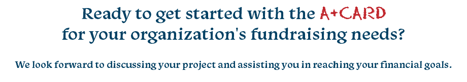 Ready to get started with the A+CARD 